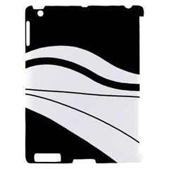 White and black harmony Apple iPad 2 Hardshell Case (Compatible with Smart Cover)
