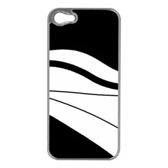 White and black harmony Apple iPhone 5 Case (Silver)