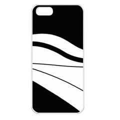 White and black harmony Apple iPhone 5 Seamless Case (White)