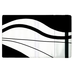 White and black harmony Apple iPad 3/4 Flip Case