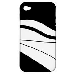 White and black harmony Apple iPhone 4/4S Hardshell Case (PC+Silicone)