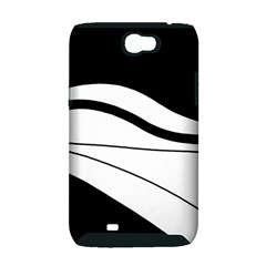 White and black harmony Samsung Galaxy Note 2 Hardshell Case (PC+Silicone)