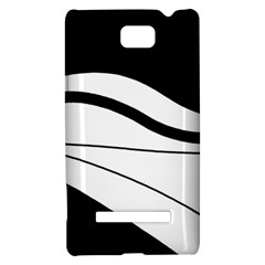 White and black harmony HTC 8S Hardshell Case