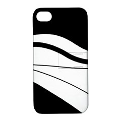White and black harmony Apple iPhone 4/4S Hardshell Case with Stand