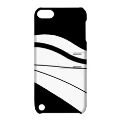 White and black harmony Apple iPod Touch 5 Hardshell Case with Stand