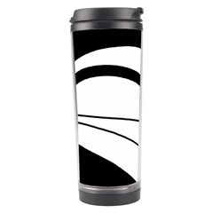 White and black harmony Travel Tumbler