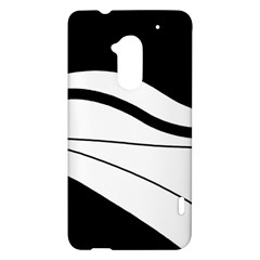 White and black harmony HTC One Max (T6) Hardshell Case