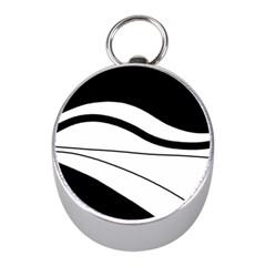 White and black harmony Mini Silver Compasses