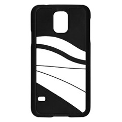 White and black harmony Samsung Galaxy S5 Case (Black)