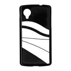 White and black harmony Nexus 5 Case (Black)