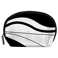 White and black harmony Accessory Pouches (Large)