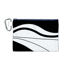 White and black harmony Canvas Cosmetic Bag (M)