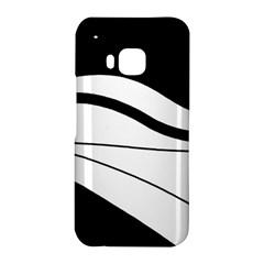 White and black harmony HTC One M9 Hardshell Case