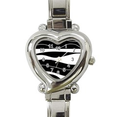 Black light Heart Italian Charm Watch