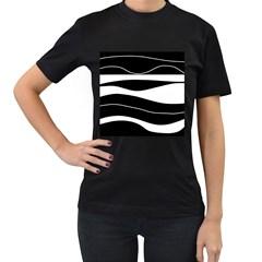 Black light Women s T-Shirt (Black) (Two Sided)