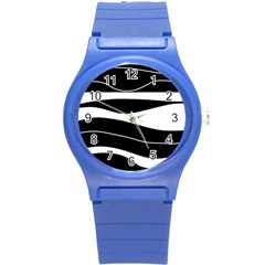 Black light Round Plastic Sport Watch (S)