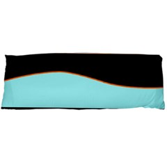Cyan, black and white waves Body Pillow Case Dakimakura (Two Sides)