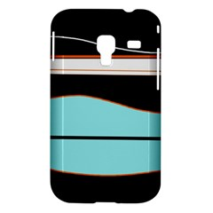 Cyan, black and white waves Samsung Galaxy Ace Plus S7500 Hardshell Case