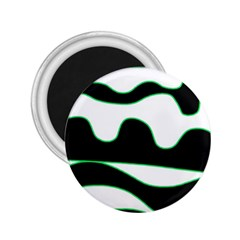 Green, white and black 2.25  Magnets