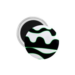 Green, white and black 1.75  Magnets