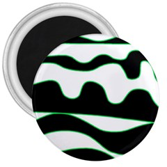 Green, white and black 3  Magnets