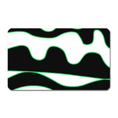 Green, white and black Magnet (Rectangular)