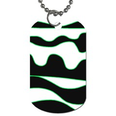 Green, white and black Dog Tag (One Side)