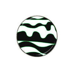 Green, white and black Hat Clip Ball Marker (4 pack)