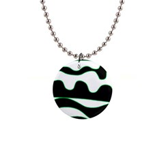 Green, white and black Button Necklaces