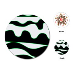 Green, white and black Playing Cards (Round)