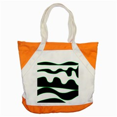 Green, white and black Accent Tote Bag