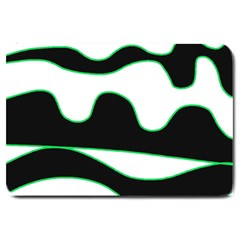 Green, white and black Large Doormat