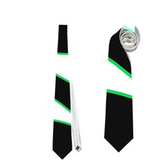 Green, white and black Neckties (One Side)
