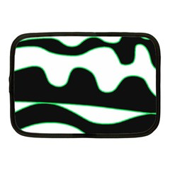 Green, white and black Netbook Case (Medium)