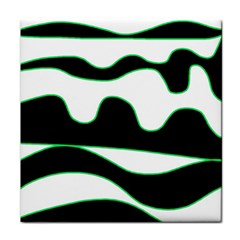Green, white and black Face Towel