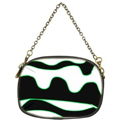 Green, white and black Chain Purses (One Side)