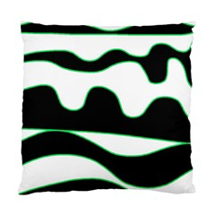 Green, white and black Standard Cushion Case (One Side)