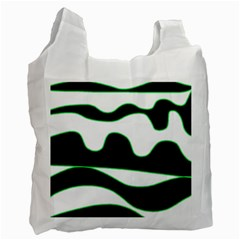 Green, white and black Recycle Bag (One Side)