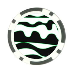 Green, white and black Poker Chip Card Guards (10 pack)