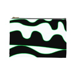 Green, white and black Cosmetic Bag (Large)