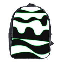 Green, white and black School Bags(Large)