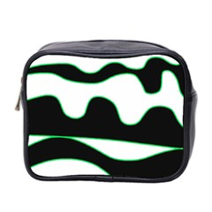 Green, white and black Mini Toiletries Bag 2-Side