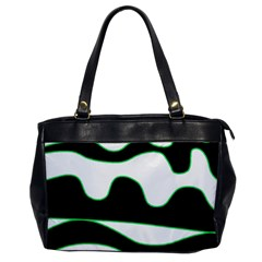 Green, white and black Office Handbags