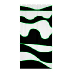 Green, white and black Shower Curtain 36  x 72  (Stall)