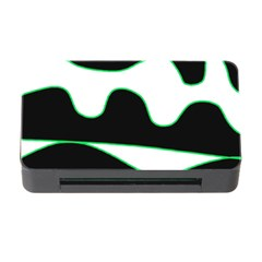 Green, white and black Memory Card Reader with CF