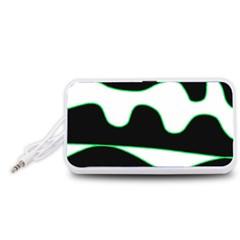 Green, white and black Portable Speaker (White)