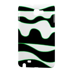Green, white and black Samsung Galaxy Note 1 Hardshell Case