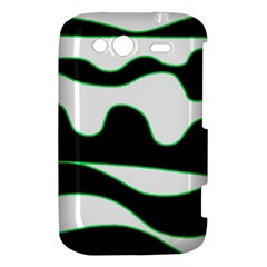 Green, white and black HTC Wildfire S A510e Hardshell Case
