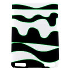 Green, white and black Kindle Touch 3G