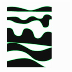Green, white and black Large Garden Flag (Two Sides)